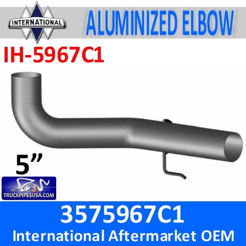 3575967C1 International 8600 Exhaust Elbow with Hook IH-5967C1