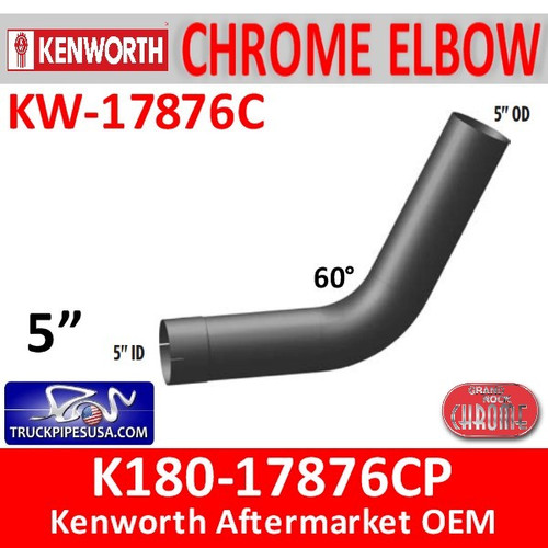 K180-17876CP Kenworth Chrome Exhaust Elbow 60 Degree