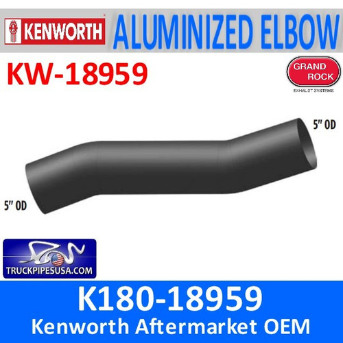 "K180-18959 Kenworth Exhaust 5"" OD Ends"
