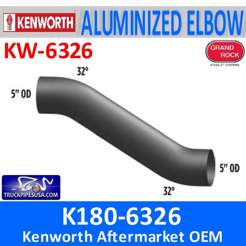 "K180-6326 Kenworth Exhaust Double 30 Degree Bend 5"" Elbow"
