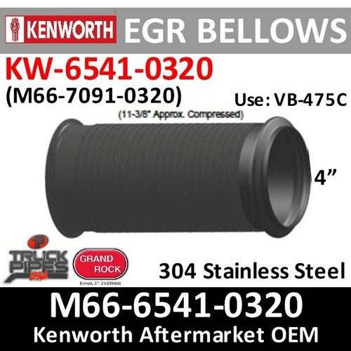 KW-6541-0320 Paccar Bellows Flex M66-7091-0320 or EBPB11861