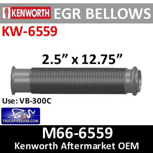 "M66-6559 Paccar Bellows EGR 2.5"" Flex Exhaust KW-6559"