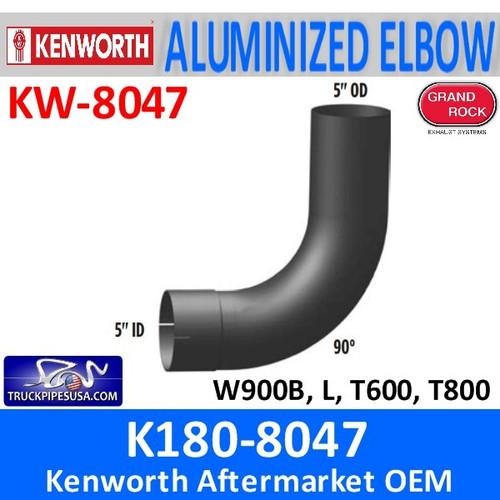 "K180-8047 Kenworth Exhaust 5"" Elbow 90 Degree"