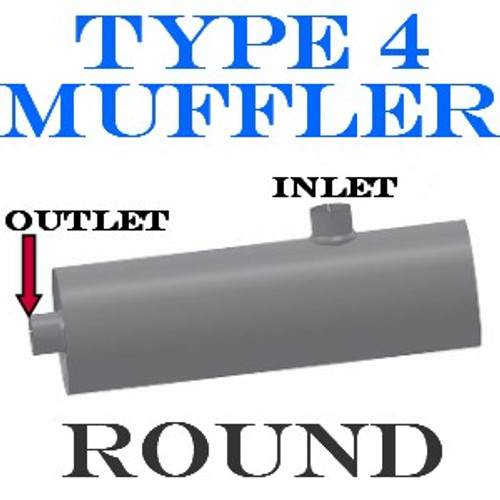 "M-034 Type 4 Muffler Bluebird-GMC Bus 4 IN-OUT 11"" Round 36"" long"