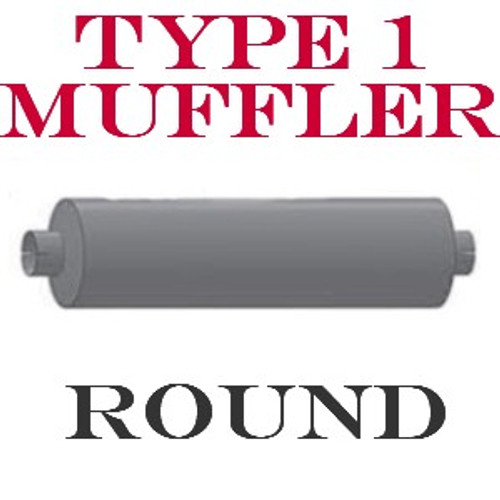 "M-102 Type 1 Muffler 9"" x 44.5"" Body 5"" IN-OUT 51"" Overall"