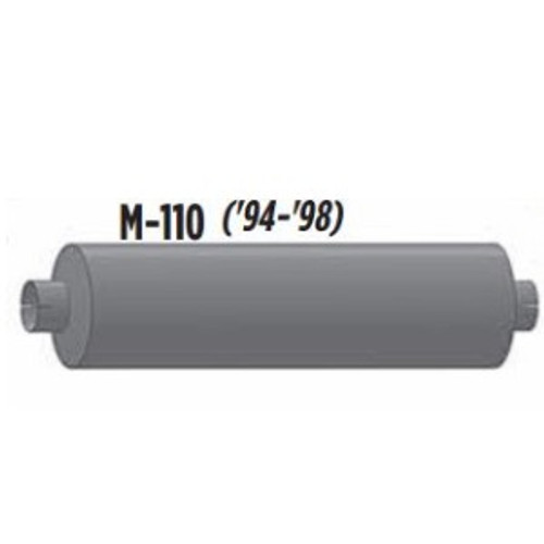 """M-110 Type 1 Muffler 8.5"""" Round x 29.5"""" Body 3.5"""" IN 4"""" OUT 36"""" Overall"""