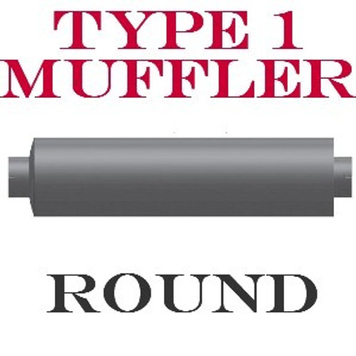"M-630 Type 1 Muffler 6"" Round x 24"" Body 4"" In-Out 30"" Overall"
