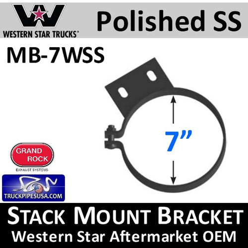 "6"" Western Star Constellation Stack Mount Bracket Clamp MB-6WSS"
