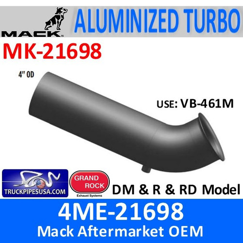 4ME-21698 Mack DM & R & RD Turbo Exhaust Part MK-21698