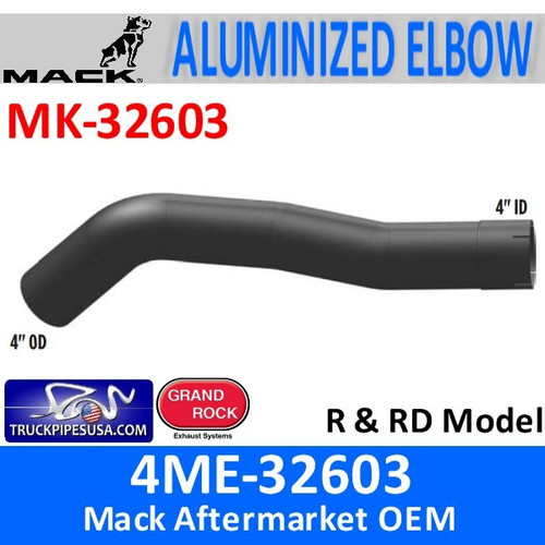 4ME-32603 Mack R & RD Model Exhaust Elbow MK-32603