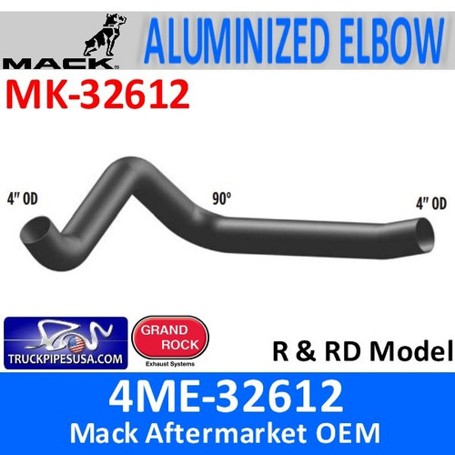 4ME-32612 Mack R & RD Model Elbow Exhaust Part MK-32612
