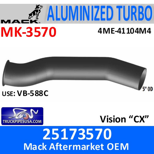 """4ME-41104M4 Mack 5"""" Exhaust Rev B Turbo 25173570"""