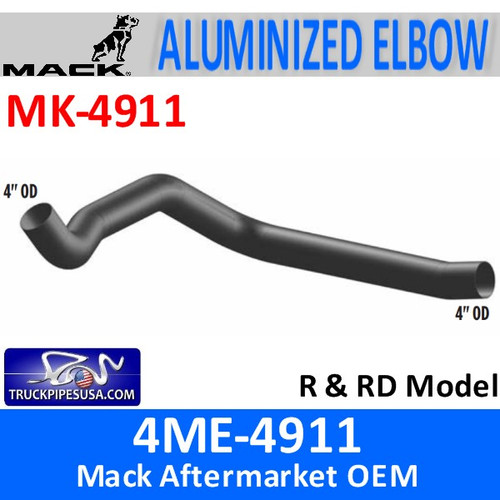 4ME-4911 Mack R & RD Model Exhaust Elbow MK-4911