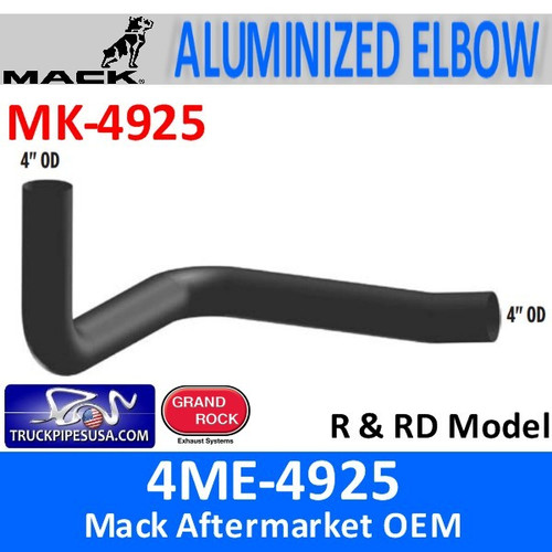 "4ME-4925 Mack R & RD 4"" Exhaust Elbow MK-4925"