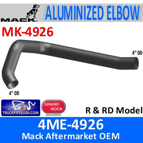 "4ME-4926 Mack R & RD Model 4"" Exhaust Elbow MK-4926"
