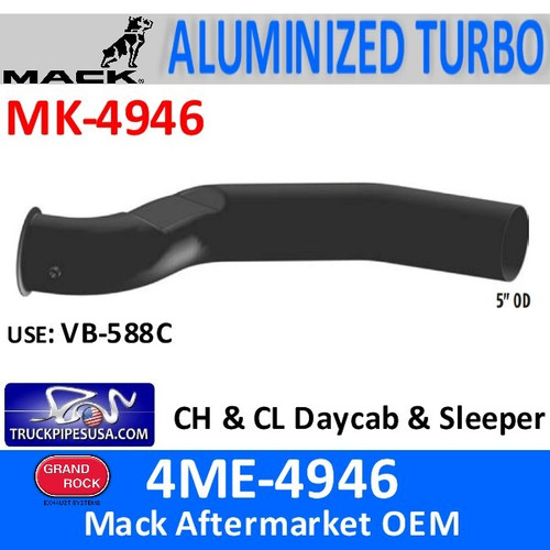 MK-4946 4ME-4946AM2 Mack Exhaust CH & CL Turbo Pipe MK-4946