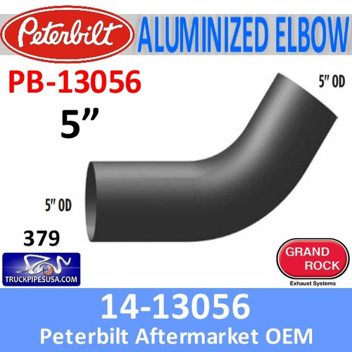 14-13056 Peterbilt 379 Aluminized Exhaust Elbow PB-13056