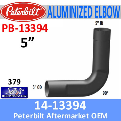 14-13394 Peterbilt 90 Degree Exhaust Elbow With Flattened Area PB-13394