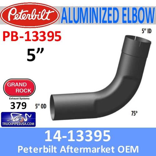 14-13395 Peterbilt 75 Degree Aluminized Exhaust Elbow PB-13395