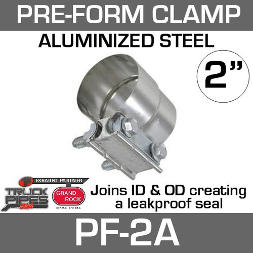 "2"" Preformed Aluminized Exhaust Seal Clamp PF-2A"