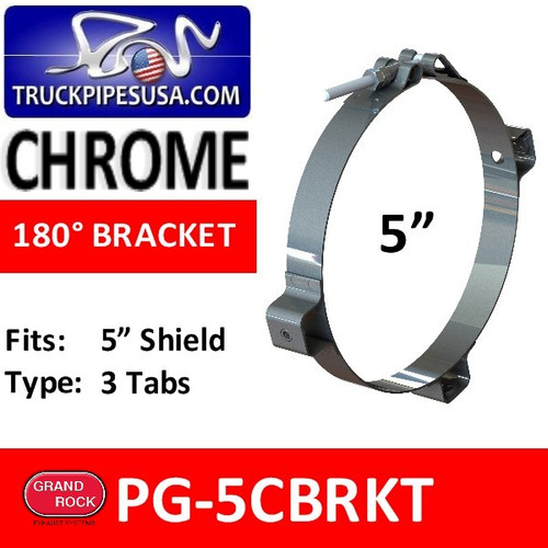 "5"" Chrome Heat Shield Bracket PG-5CBRKT"