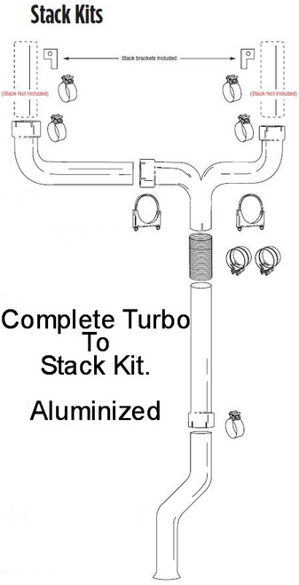 """PS-9902-4SK 1999-2002 Ford 7.3L Powerstroke 4"""" Dual Stack Kit"""