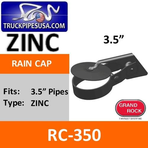 3.5 inch Zinc Plated Exhaust Rain Cap RC-350