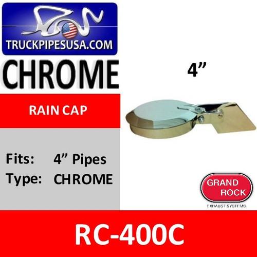 4 inch Chrome Plated Exhaust Rain Cap RC-400C