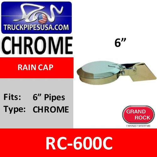 6 inch Chrome Plated Exhaust Rain Cap RC-600C