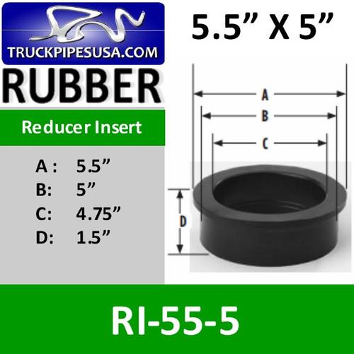 RI-55-5 5.5 inch x 5 inch Intake Air Reducer Insert