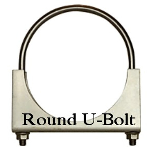 """RO-35P 3.5"""" Round Bolt Open Saddle Exhaust  Clamp"""