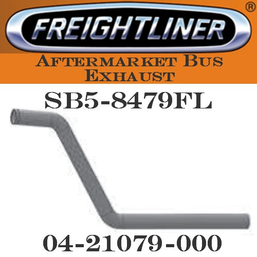 "04-21079-000  3"" Freightliner Bus Exhaust 2 Bend OD/FLARE ALZ"