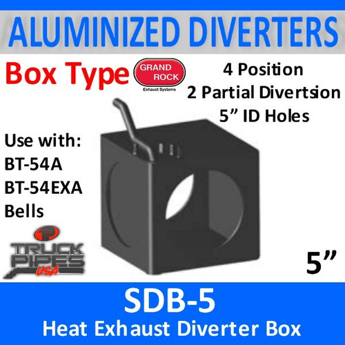 "5"" Exhaust Heat Diverter Box with 4 positions SDB-5"