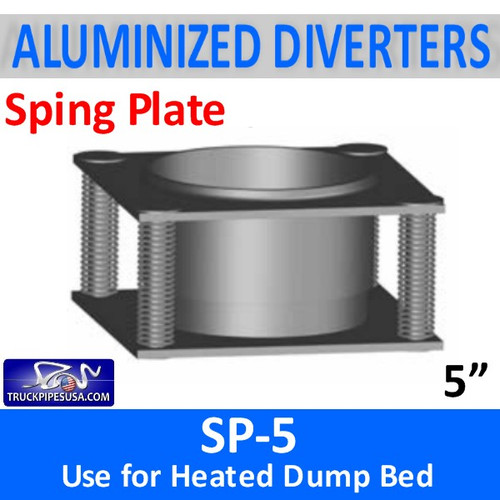 "SP-5 Spring Plate 5"" Center Hole - Use for heated dump bed"