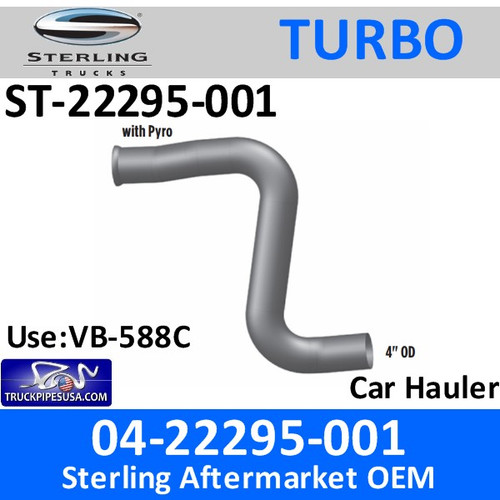ST-22295-001 04-22295-001 Sterling Car Hauler Turbo Pyro Pipe ST-22295-001
