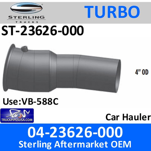 ST-23626-000 04-23626-000 Sterling Car Hauler Turbo Pyro Pipe ST-23626-000