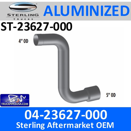 04-23627-000 Sterling Car Hauler Elbow Exhaust Pipe CUSTOM PART