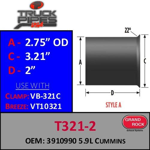 T321-2 5.9 Cummins Turbo OEM 3910990 Style A
