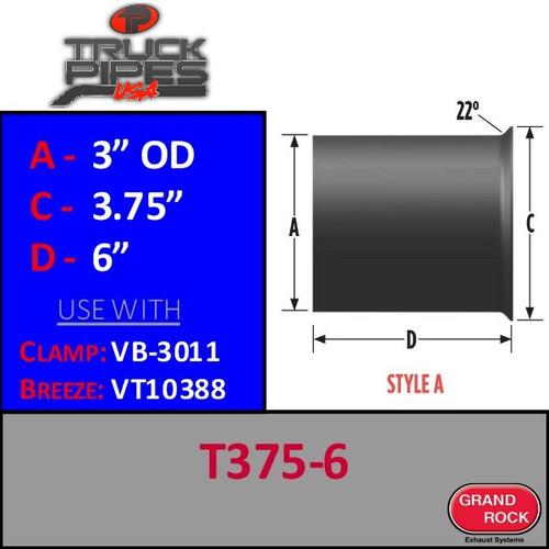 "T-375-6 Turbo 3"" x 3.75"" x 6"" Style A"