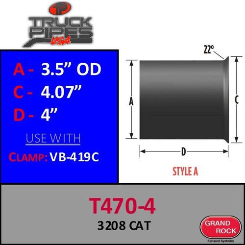 T407-4 Turbo 3.5 OD x 3.5 ID 3208T CAT Style A