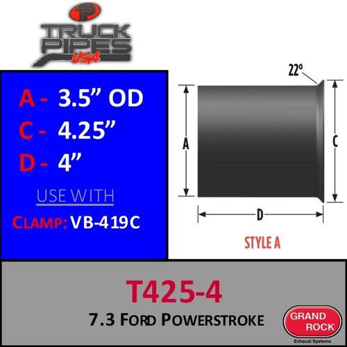 "T425-5 Turbo 3.5"" 7.3 Power stroke Flange Style A"