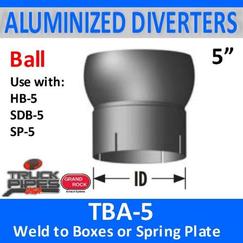 """5"""" Tilt Ball Aluminized Heat Diverter Box Connector TBA-5"""