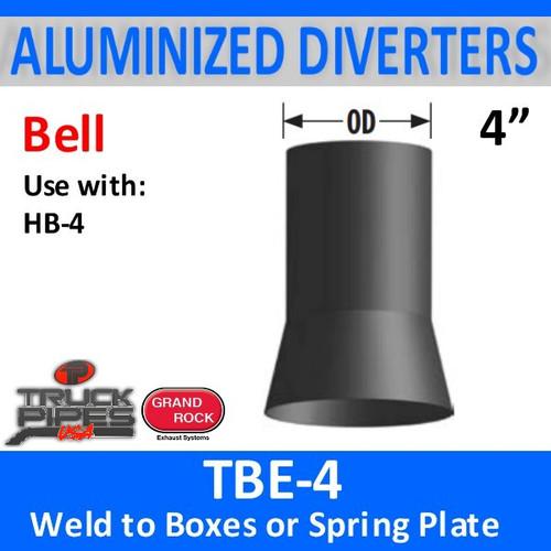 "4"" Tilt Bell Aluminized Heat Diverter Box Connector TBE-4"