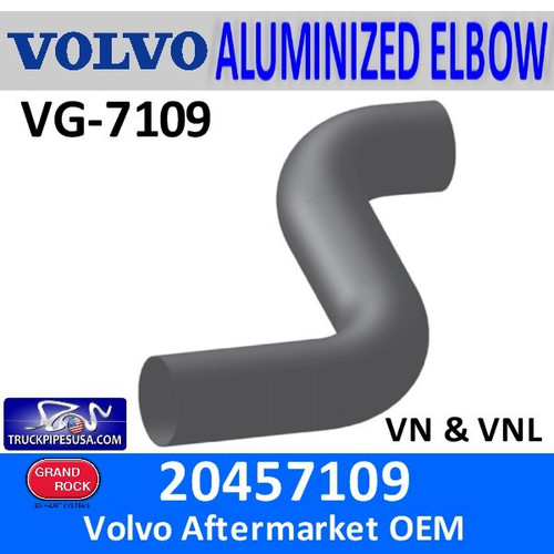 20457109 Volvo Exhaust Double Bend Elbow VG-7109
