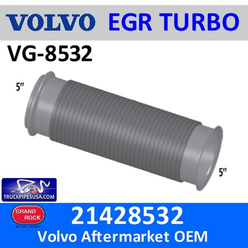 """21428532 Volvo-Mack Bellows 5"""" x 16"""" Long VG-8532"""