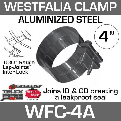 "4"" Westfalia Aluminized Exhaust Band Clamp WFC-4A"