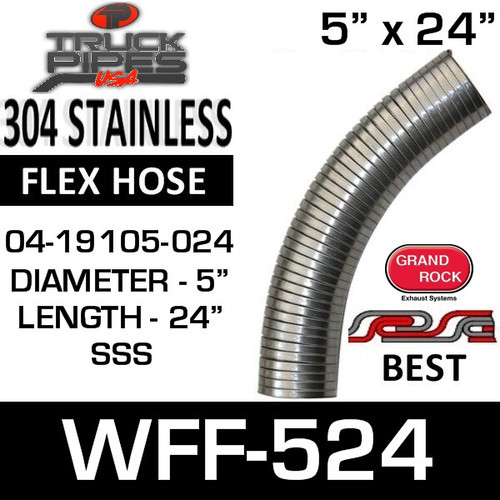 "04-19105-024 Westfalia 304 Stainless Steel Flex 5"" x 24"" WFF-524"