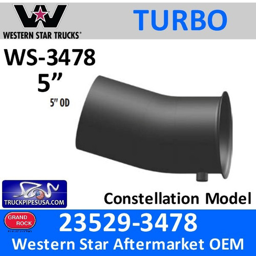 Western Star Turbo Pipe for C15 CAT 23529-3478