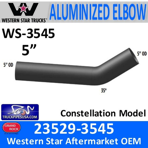 Western Star 35 Degree Elbow OD-OD Ends 23529-3545