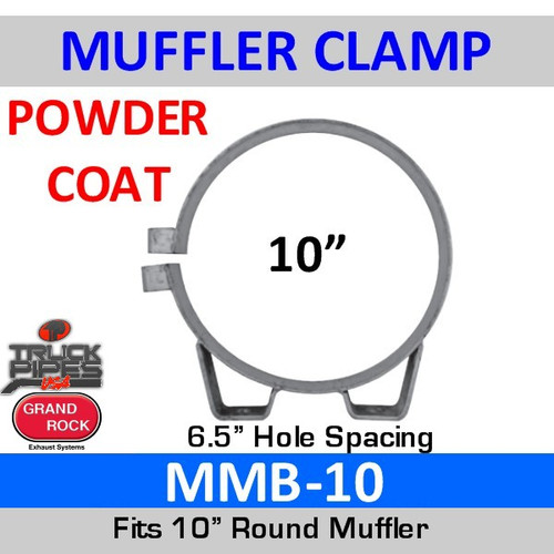 """MMB-10 10"""" Universal Muffler Exhaust Clamp Powder Coat MMB-10"""